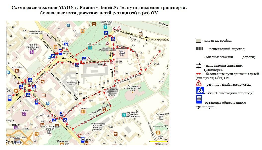 Схема маршрутного такси 96 рязань